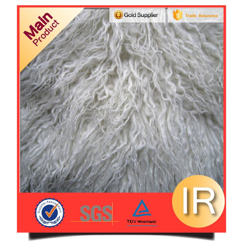 long hair plush fake fur rug fabric