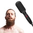 Men Beard Simply Straightener LCD Display Ceramic Electric Hair Styler Fast Straightening Comb Men Hair Styling Tool Brush