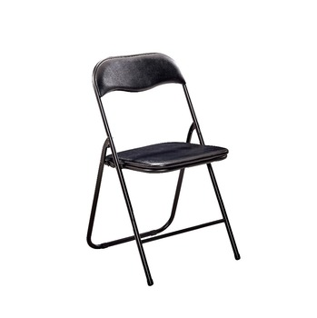 Outdoor Cheap Metal Material Folding Chair With Steel Legs And PU Cushion  Office Chairs