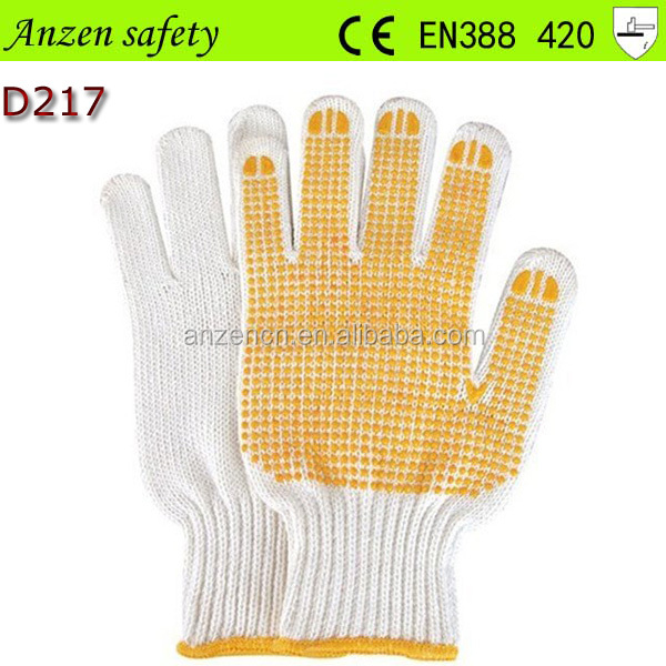 labor protection pvc dot gardening glove with cotton liner