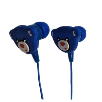 Bear cartoon earphone can do OEM and print logo with earphone cover