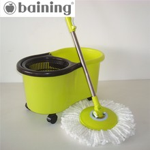 Competitive price cute design light green dual function movable Walmart magic mop 360 for compact house cleaning kit