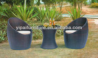 PE rattan 3pc kitchen furniture chairs and table YPS029