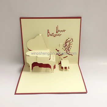 Musical Show Handmade Invitation 3d Birthday Card Buy Handmade 3d
