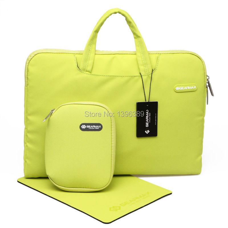 Gearmax Laptop Bag 15 Inch Four Colors Carrying Pouch 15.6 Inch Yellow Computer Bag for Macbook Pro 15 Inch Women Messenger Bag