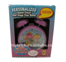 Personalized song USB alarm clock for kids