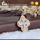 Gift Craft Cross Cross Excellent After-sales Service Tailor-made Saint Wood Craft Cross Necklace