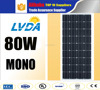 LVDA factory sale mono 80w 100w mono solar panels for apartments monocrystalline 80w 100w japan market