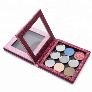 Plastic no label makeup eyeshadow palette guangzhou cosmetics made in China