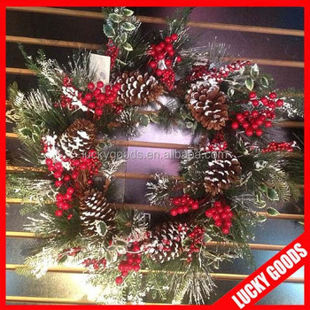 New Design Wholesale Wall Hanging Christmas Garland In Round Shape Buy Christmas Garland Christmas Wreath Wholesale Christmas Garland Product On