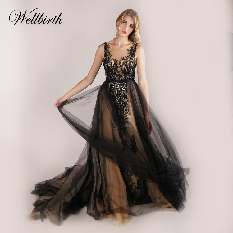 Top Designs Hand Sewn lady Evening bridal brides party Dresses Fancy black long  maxi lace homecoming cocktail dress For Women 3dbf40674