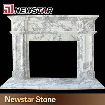 Klassiker Kamin Kaminsimse, Weißem Marmor Kaminumrandungen