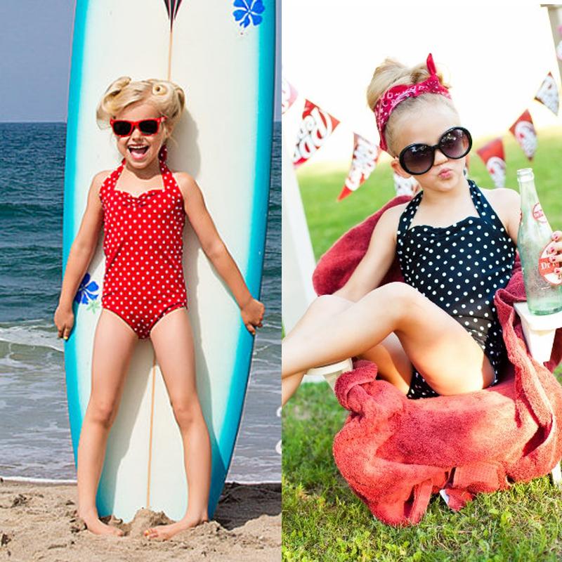 beab202258 Detail Feedback Questions about 2018 New Baby & Toddler Girls Swimwear  Bowknot Polka Dots Bikini Kids Swimsuit 2 7 Y One Piece Children Swimsuit  Swimwear on ...