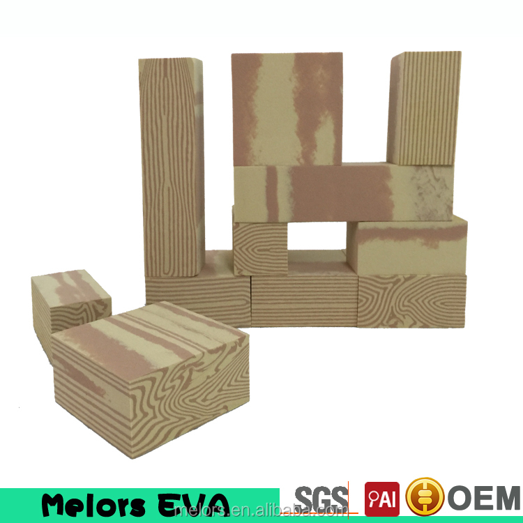 2015 new design !EVA foam soft educational kids foam wooden toy building blocks