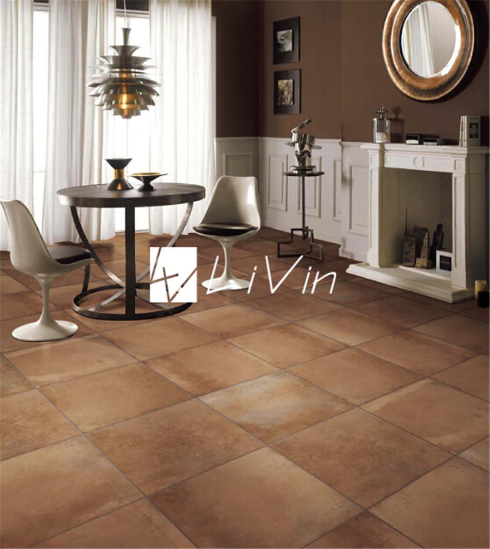 Cemento marr n azulejo para piso lvf6622 alicatados Azulejos rusticos para interiores