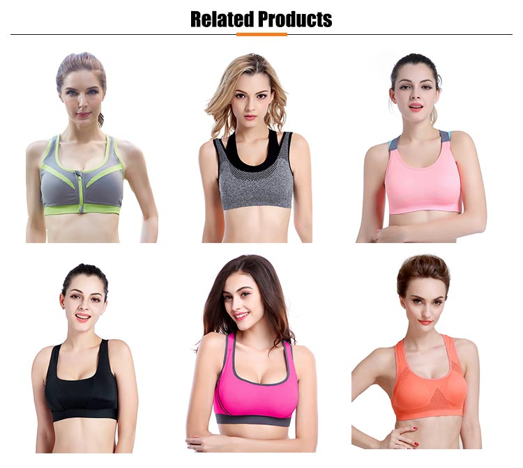 OEM Push Up Plus Size xxx Sexy Ladies Costume Sexy Sports Bra Para As Mulheres