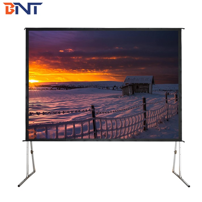 BNT Larger Room Front Rear Stand Projector Screen 16:9 150 Inch Fast Fold Screen фото
