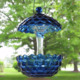 Appealing glass bird feeder made with glass dish lid hot sale in UK