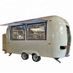 Most popular bus used food trucks mobile coffee trailer/fast food vending van/hot dog food trailer for sale