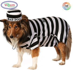 G159 Creative Branded New Convict Escaped Bad Dog Prisoner Pet Costumes