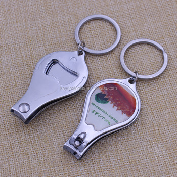 custom logo nail clipper with printing epoxy logo for promotion activity