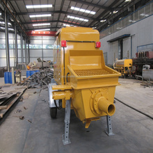 trailer conveying concrete pump, diesel motor, 30m3/h output, alibaba supplier ISO BV Certificate
