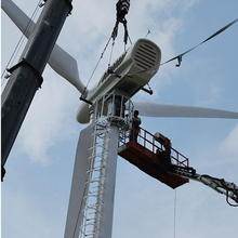 HENRYD! pitch controlled 60kw wind turbine generator with wind energy system, Rated wind speed 8.5ms, 24m low noise blades rotor