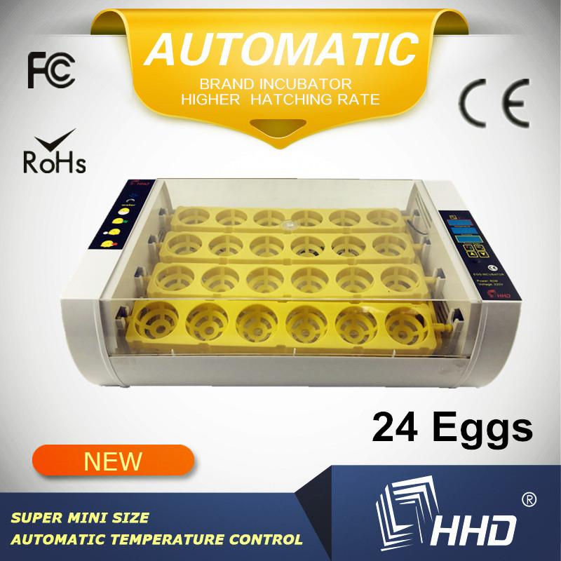 HHD Brand Mini Automatic Egg Incubator 48 Eggs Incubator 12 Volt Battery Egg Hatching Machine Price