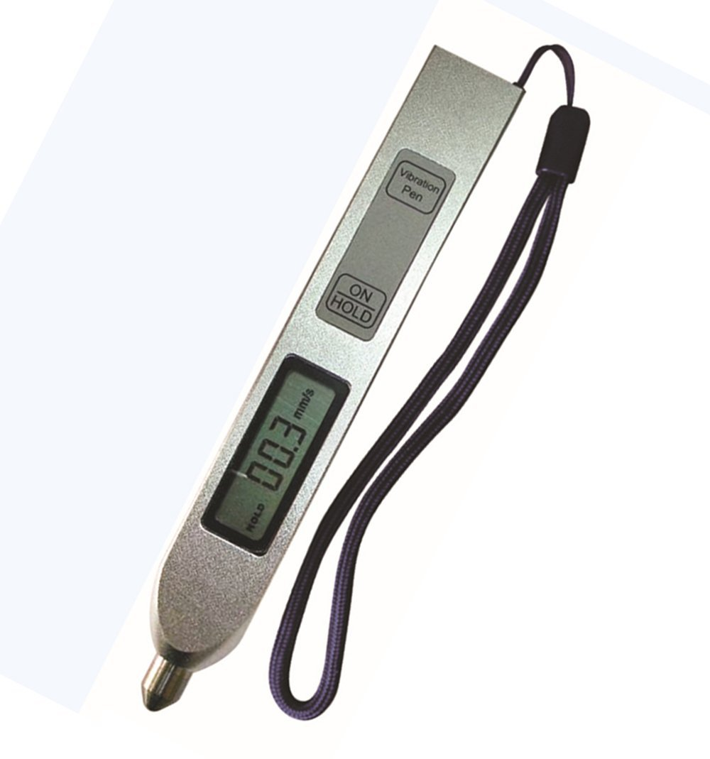 CNYST YV200 Handheld Pen Type Vibration Tester Meter with Velocity Range 0.1mm/s to 199.9mm/s LCD Display Portable Vibrometer Vibration Measuring Gauge