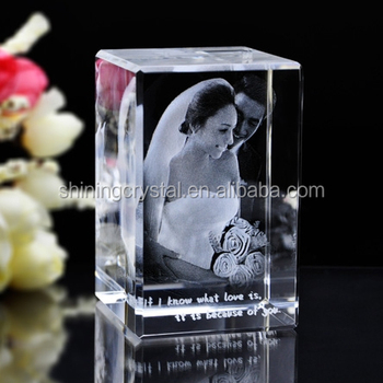 3d Laser Engraving Crystal Wedding Giveaway Souvenirs Gift Buy