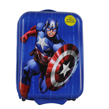 "JK-161125 ABS/PC 15""/16"" Marvel Ameican Captain cute cartoon print kids hard shell luggage/travel luggage bag"