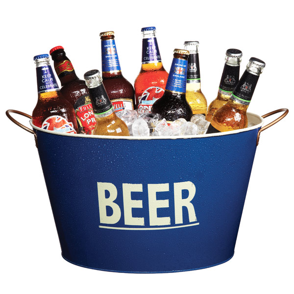 18L Oval Beer Bucket Large Metal beverage Tub Party Ice cube holder