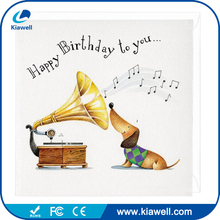 Custom reocrd musical talking paper cut greeting card for birthday