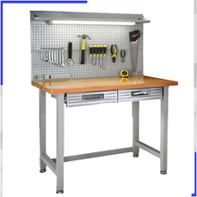 Utility steel frame portable tradesman workbench