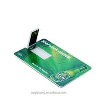 Bank card memory flash usb drive slim card/ flip card /id card flash memory