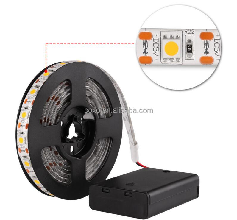 Factory Price CE RoHS 5050 Remote Controlled Battery Operated Led Strip Light