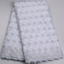 White African Dress Nigeria Lace XZLACE Swiss Embroidery Cotton Voile Lace Fabric