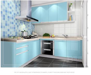 Melamiend Chipboard Pvc Theril Dihadapi Mdf Sederhana Murah Dapur Desain Kabinet Untuk Kecil