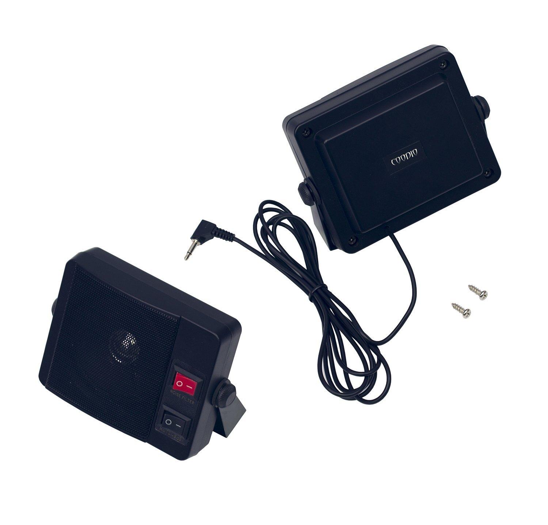 Coodio 10W Communication External [Mute Switch] Speaker [Noise Filter]  [Swivel Bracket
