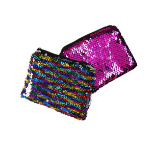 Sequin Mermaid Bag Glitter Small Funny Kids Zipper Coin Purse Wallet