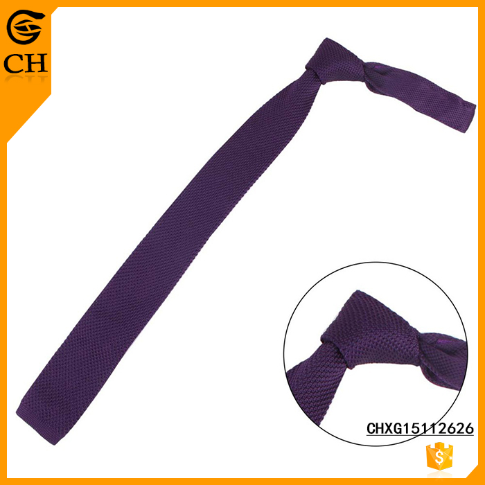 Polyester Knitted Pure Plain Party Tie For Kids