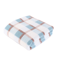 Amazon best seller 100%polyester printed plaid sheep fleece sherpa throw blanket