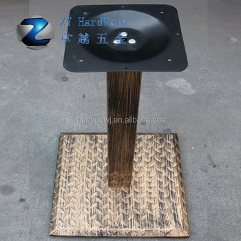 Zhuoyue hardware manufacture shaped solid column table base antique zhuoyue hardware manufacture shaped solid column table base antique bronze baking varnish cast iron table legs watchthetrailerfo