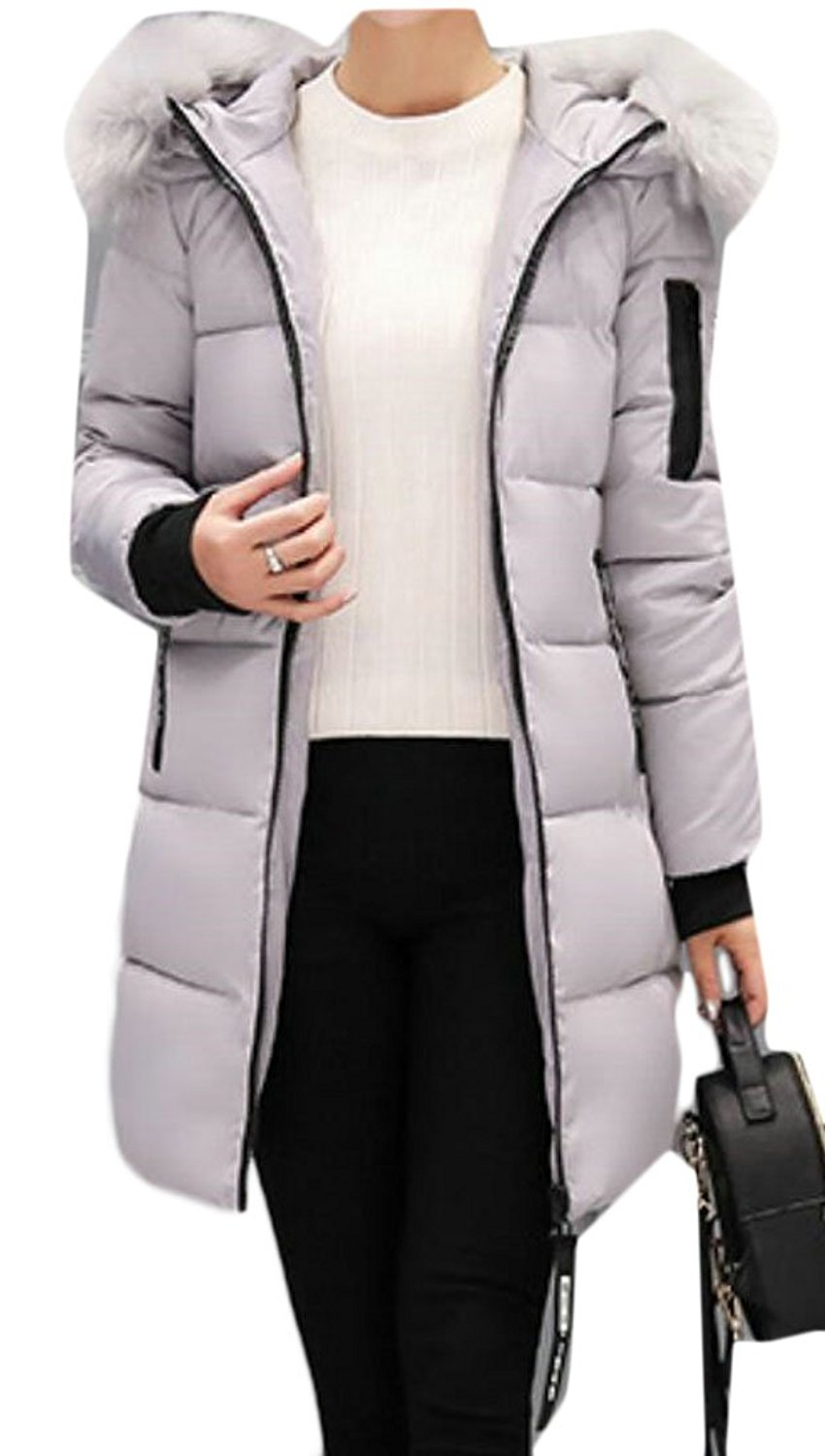 147b87792a287 Get Quotations · WSPLYSPJY Women Outdoor Plus Size Hooded Puffer Down Coat