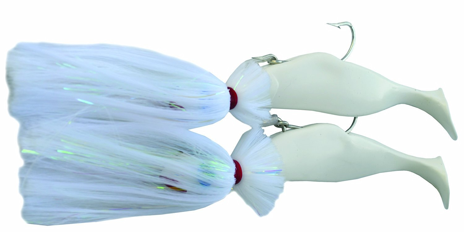 Blue Water Candy Tandem Loaded Parachute Rigs, 4-Ounce and 8-Ounce, White