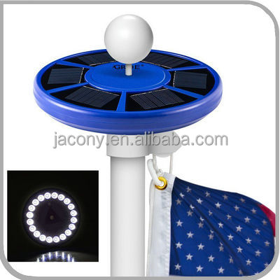 Blue color Solar Energy Saving Flagpole Light Flag Pole Solar Lighting top mount (CB-D628)
