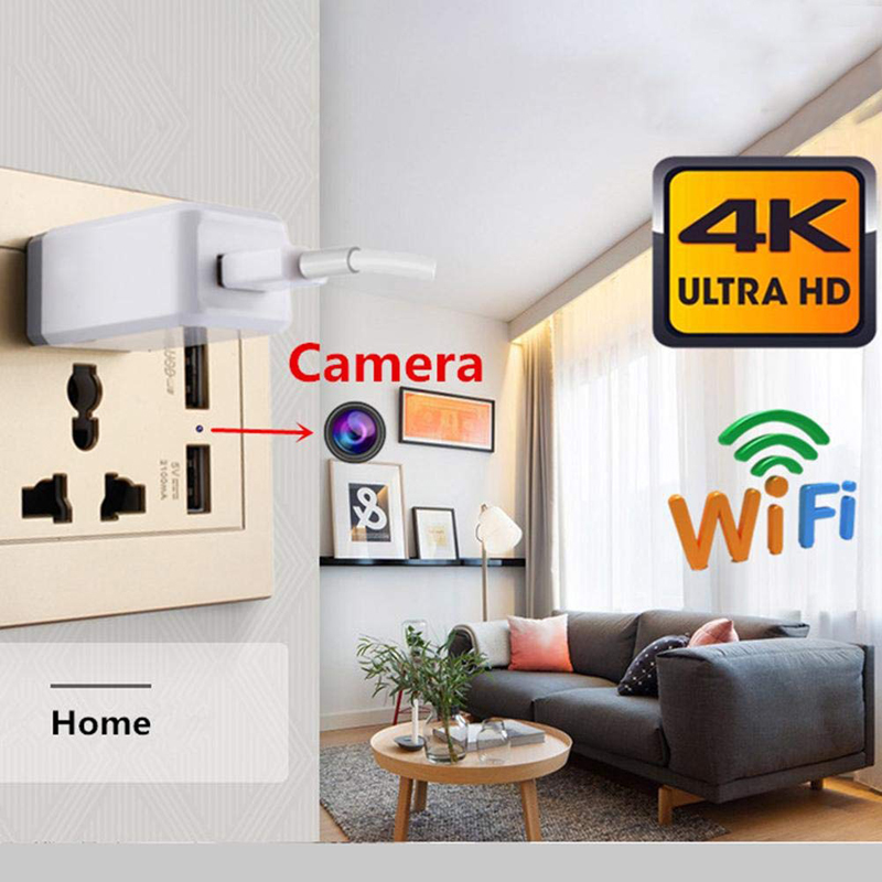 WIFI IP 1080 P Camera Spy DVR Dinding Plug Socket Tersembunyi Kamera Video Perekam Tersembunyi CCTV Dinding Spy Camera With port USB