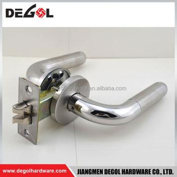 Wholesale zinc alloy double sided door locks handles interior buy door locks handles interior for Interior double door locking hardware