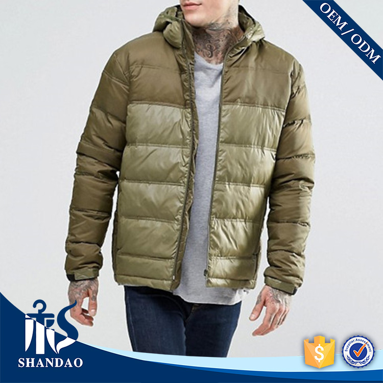 Guangzhou Shandao Gold Supplier Custom High Quality Pop Trend Zipper Slim Fit Men Ultralight Down Jacket