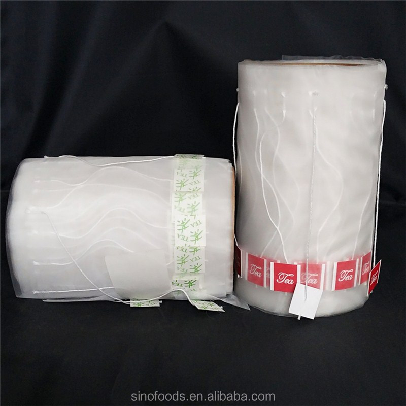 15*20cm nylon tea bag filter paper <strong>roll</strong> with drawstring
